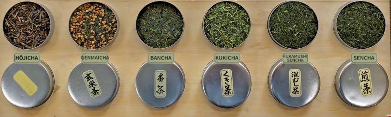 różne domiany zielonej herbaty