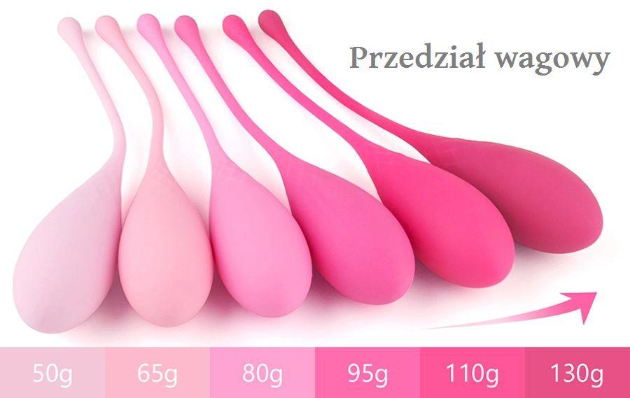 kulki waginalne różnią się wagą i wymiarem